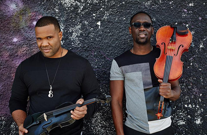 Black Violin members, from left: Kevin Sylvester (Kev Marcus) and Wil Baptiste (Wil B)