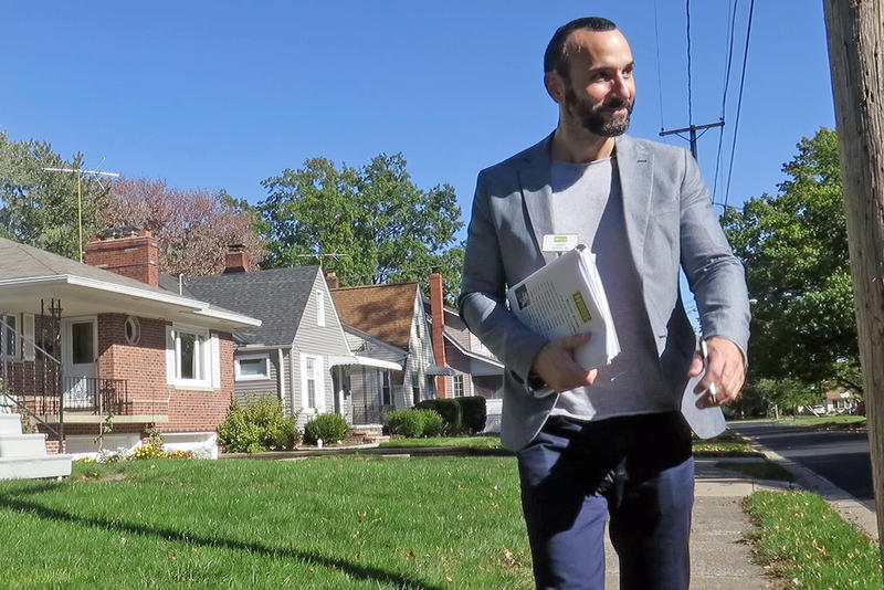 Jim Haffey, a realtor in Ohio, has turned to door-knocking to drum up new clients.