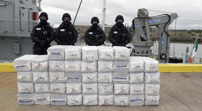 One ton of cocaine seized as part of an operation involving the National Crime Agency and Irish, French and Venezuelan authorities in 2014.