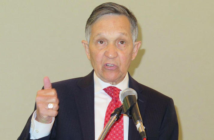 Former U.S. Representative Dennis Kucinich hits the campaign trail to support drug price ballot Issue 2.