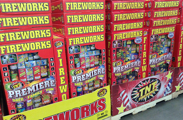 Fireworks packages in store