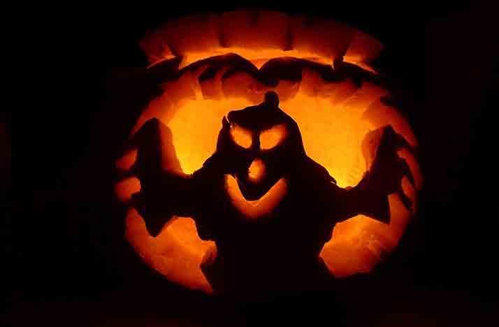 Ghost jack-o-lantern halloween pumpkin