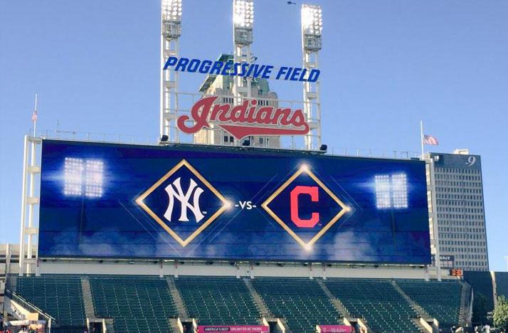 Cleveland Indians playoff scoreboard