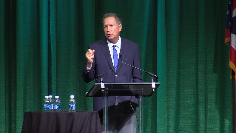 Gov. John Kasich speaks to the Ohio Transportation Engineers Conference in Columbus.