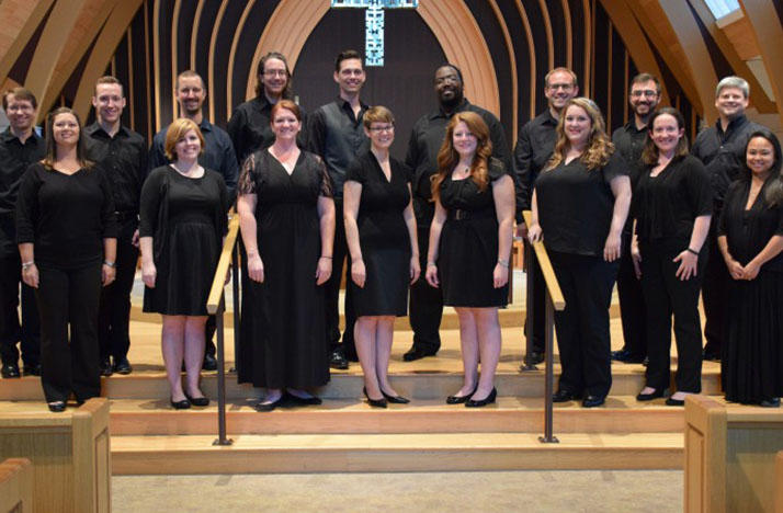 Fior Angelico is a Columbus chamber choir of 16 singers.