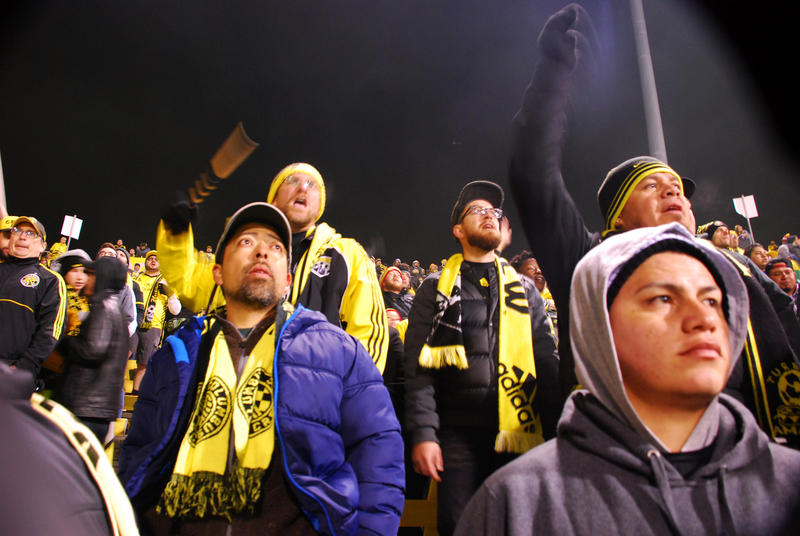 Columbus Crew fans came out to support the team in their playoff match against NYC FC, but news of the team's potential move dampened the mood.