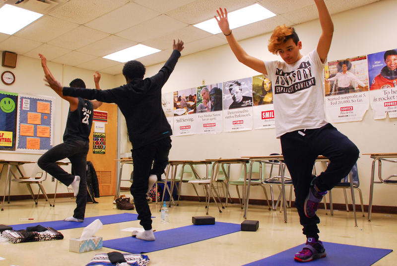 On Tuesdays, Lancaster High School offers yoga and other mindfulness exercises to students who otherwise would serve detention.