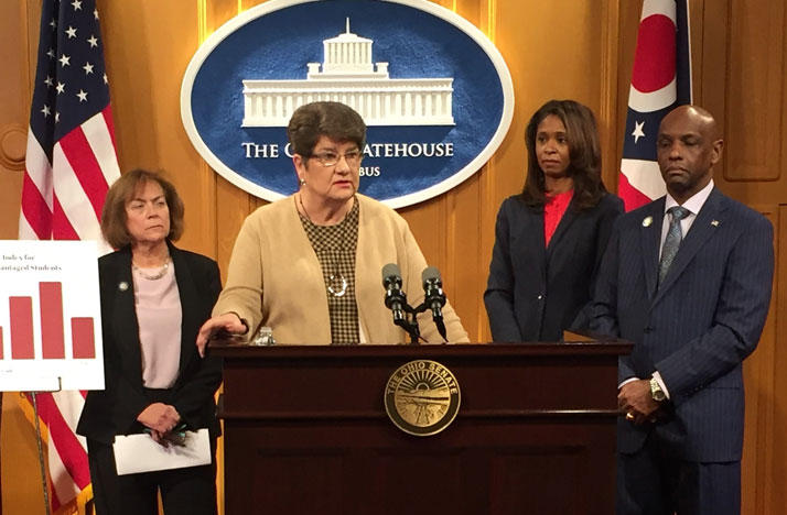 Sen. Peggy Lehner (R-Kettering) proposes bill to ban expulsions and out-of-school suspensions for young students.