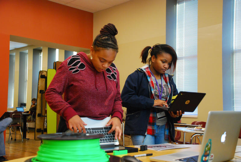"Twice a week, 10 students at Franklinton Prep Academy take part in ""Improve Your School,"" an after-school program offered by Local Tech Heroes."