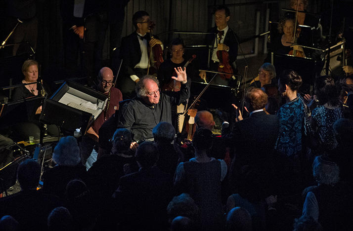 James Levine conducts the Metropolitan Opera Orchestra in 2013.