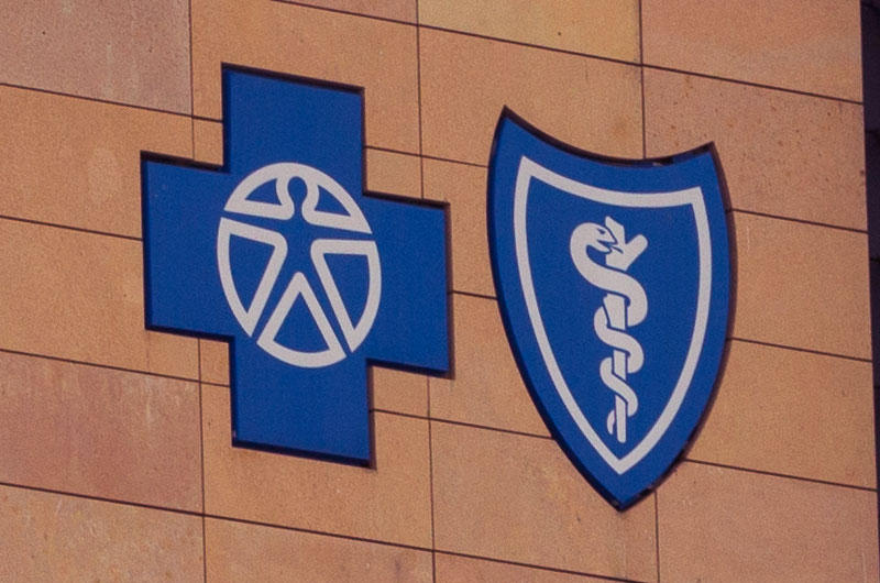 Blue Cross Blue Shield Building Sign