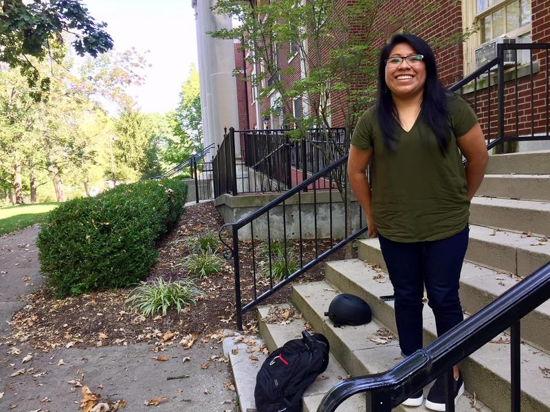 Maria Sanchez, a Miami University graduate student, says she's worried the end of DACA could prevent her from finishing her education.