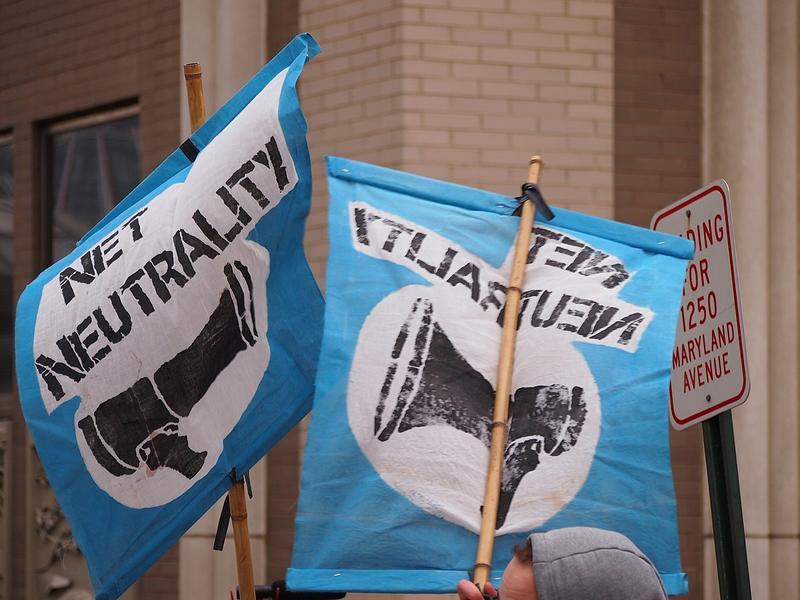 Net Neutrality demonstration in Washington, D.C. on December 14, 2017.
