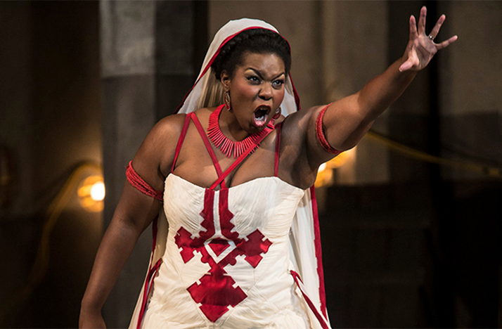 Michelle Johnson as Aida in the Columbus Symphony and Opera Columbus production of Verdi's 'Aida'