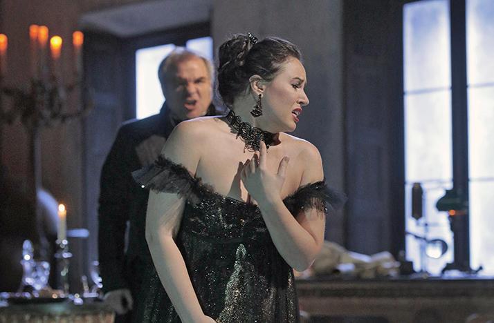Sonya Yoncheva as Tosca and Željko Lučić as Scarpia rehearse Act II for David McVicar's new production of 'Tosca.'