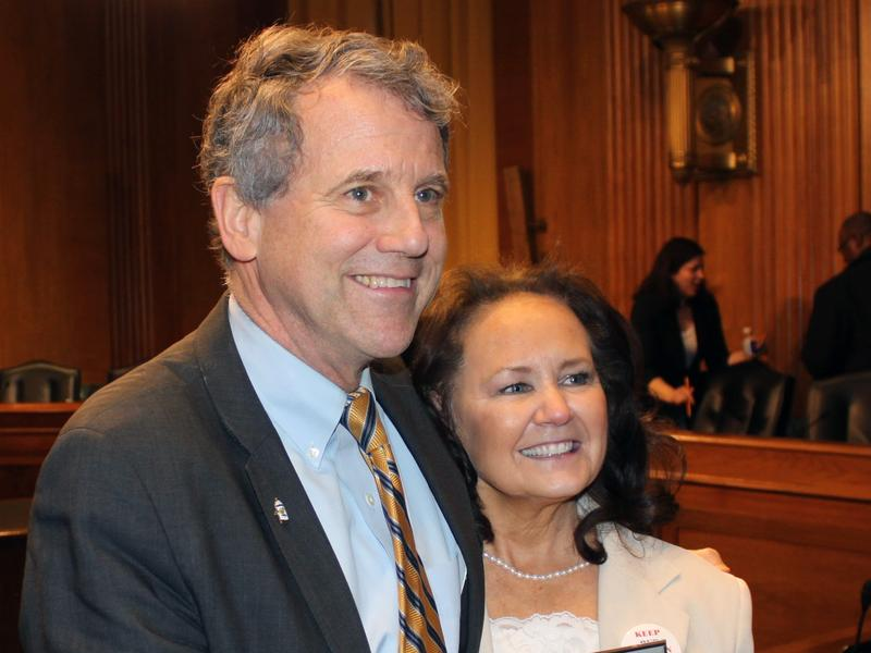 "Sen. Sherrod Brown invited Rita Lewis, the wife of the late Teamster activist Butch Lewis, as his ""State Of The Union"" guest."