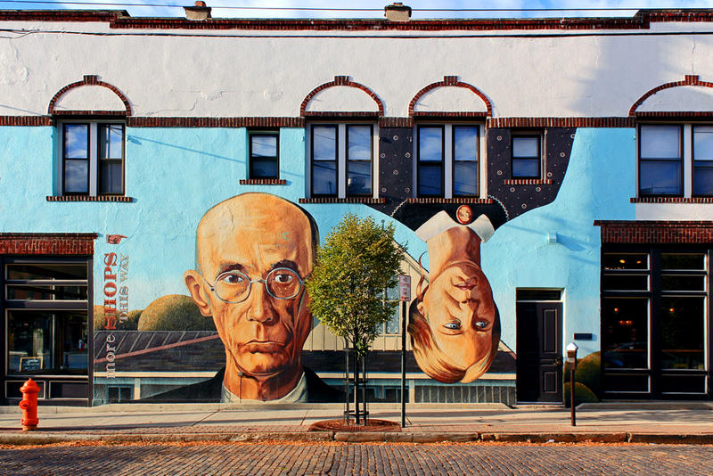 """""""Short North Gothic"""" mural in the Short North arts district."""
