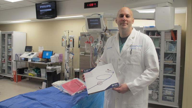 Dr. Chance Spalding uses the REBOA technique to help victims of car crashes or shootings at Grant Medical Center.