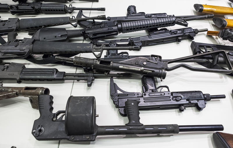 Los Angeles Police held a gun buyback event in 2012.