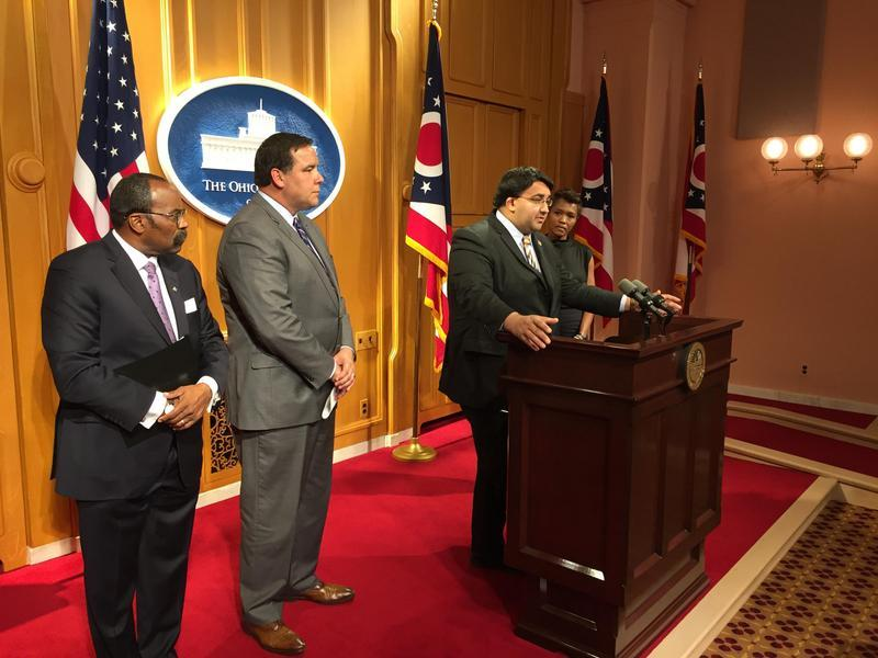 Rep. Niraj Antani (R-Miamisburg) discusses new proposal to outline public records standards for police body cameras.