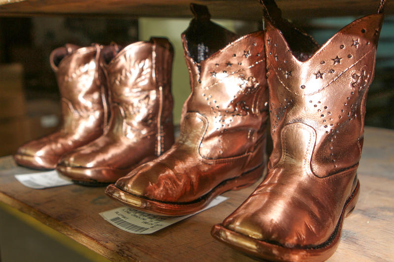 American Bronzing Company hit its heyday in the '50s and '60s, and is the nation's largest shoe bronzing company.