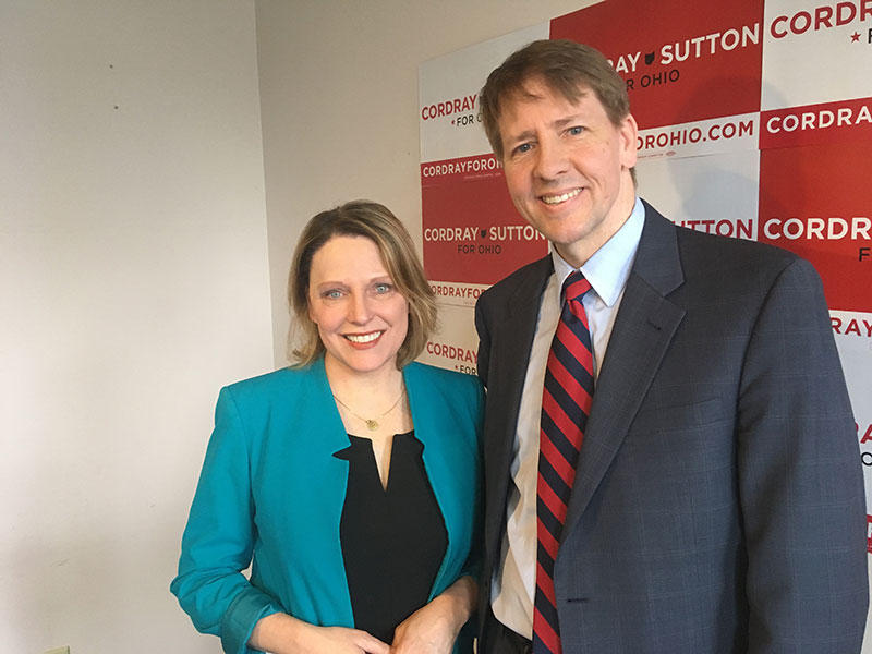 Connie Pillich (left) has ended her bid to become governor and endorsed and Richard Cordray.