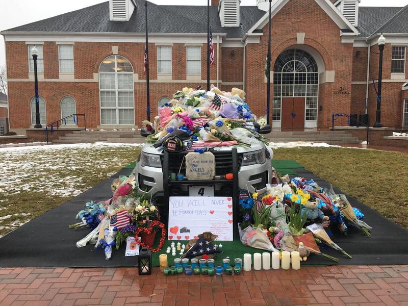 A tribute to two Westerville officers will likely be taken down this week.
