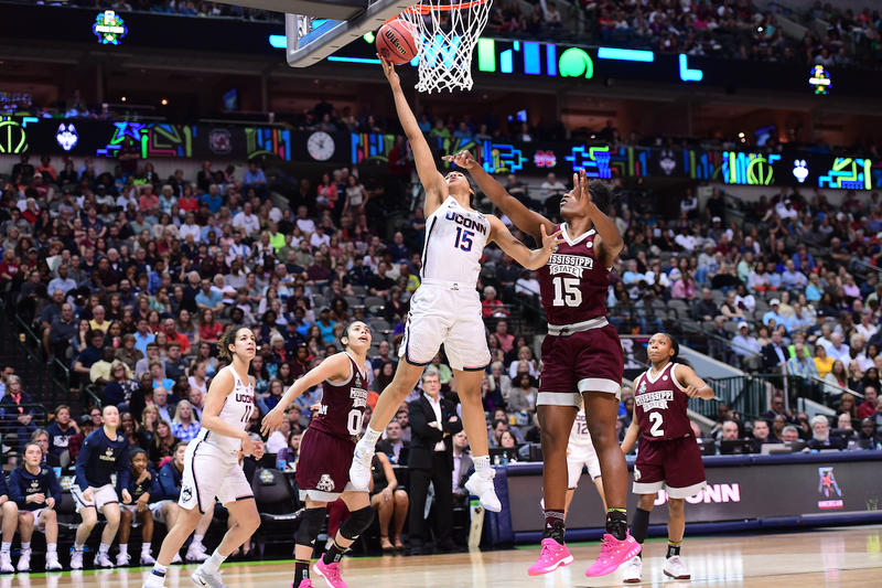 Gabby Williams of University of Connecticut at the 2017 NCAA tournament.