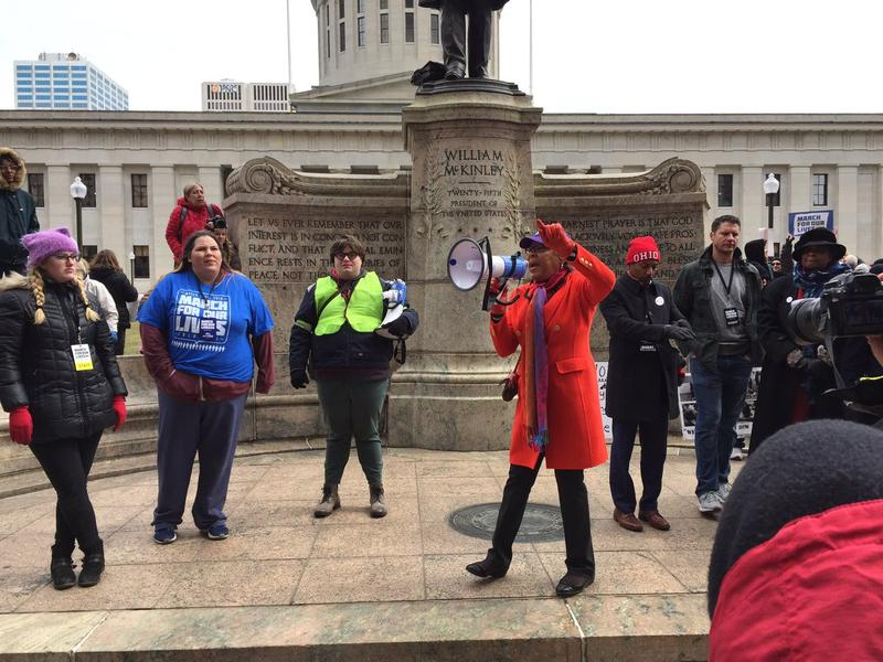 Rep. Joyce Beatty joins protesters in the March For Our Lives on March 24.