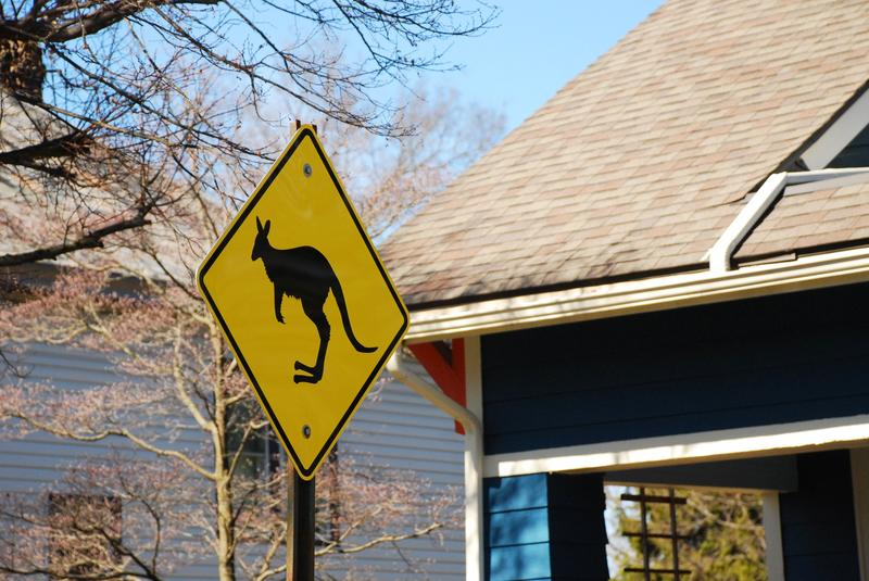 "This ""Kangaroo Crossing"" sign was a source of much curiosity among Clintonville residents. A WOSU listener asked Curious Cbus about the sign's origins."