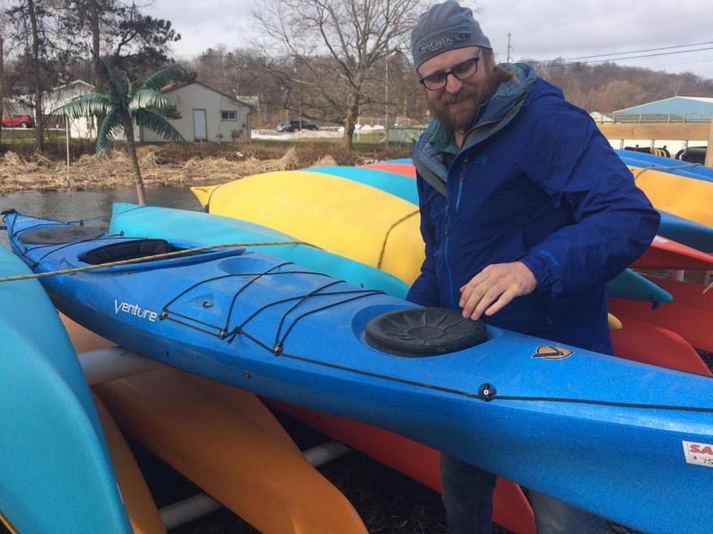Dave Hulbert works at BayCreek Paddling Center, and says he hopes the lakes will clear up even more soon.