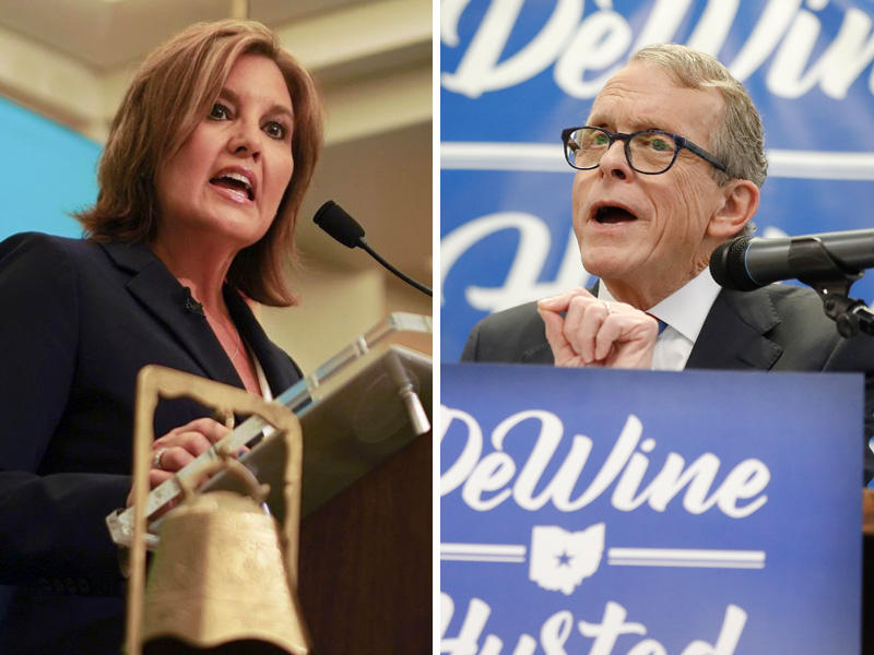 Ohio Republican Candidates for governor Mary Taylor (left) and Mike DeWine.