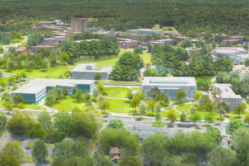 A rendering of a new campus layout, as part of the school's 10-year, $1 billion transformation plan.