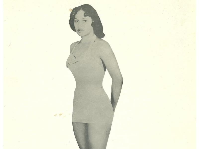 "A publicity photo for wrestler Ramona Isbell billed her as a ""shapely star."""