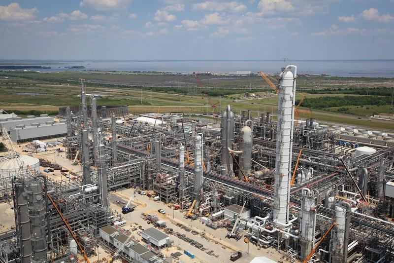 A petrochemical plant owned by BASF along the Gulf Coast.
