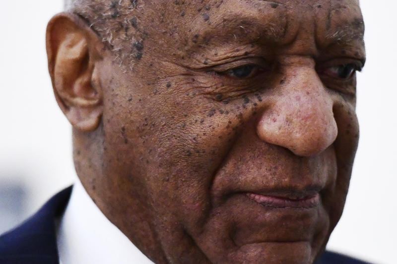 Bill Cosby walks back to courtroom C after a break in his sexual assault trial at the Montgomery County Courthouse, Wednesday, April 4, 2018, in Norristown, Pa.