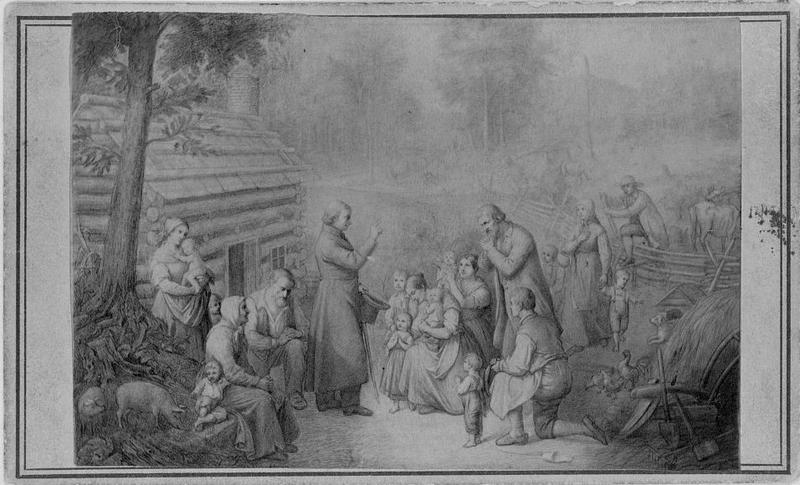 """Father Fenwick's discovering of the first Catholics in Ohio."""