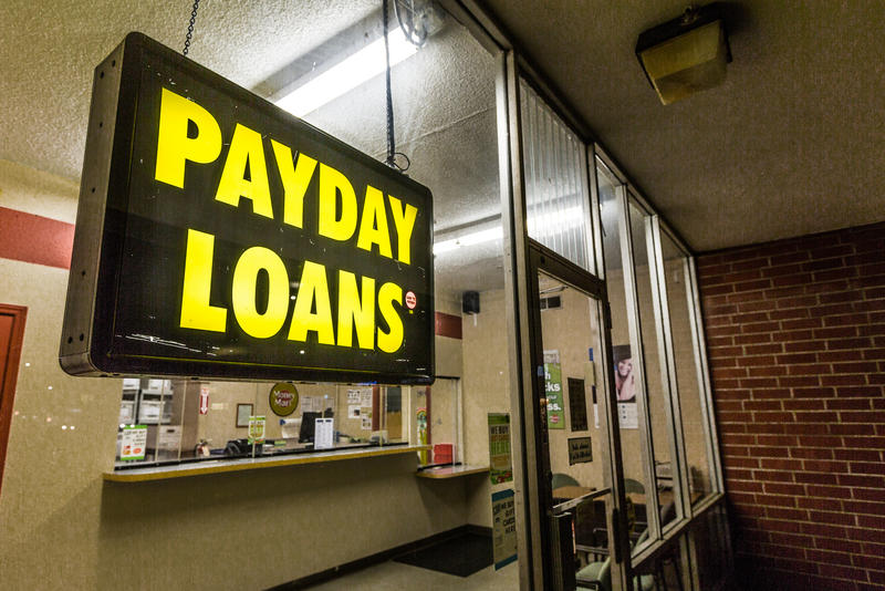 payday lending sign