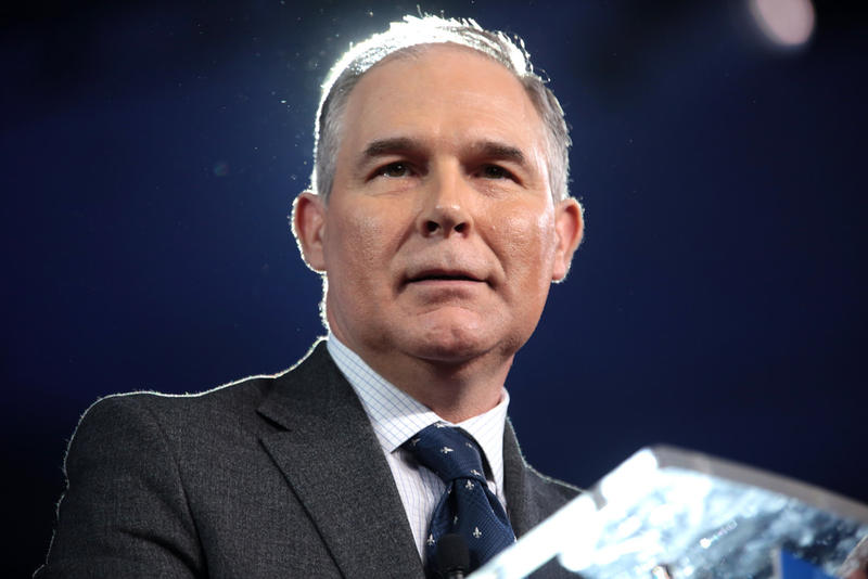 The head of the Enviornmental Protection Agency, Scott Pruitt.