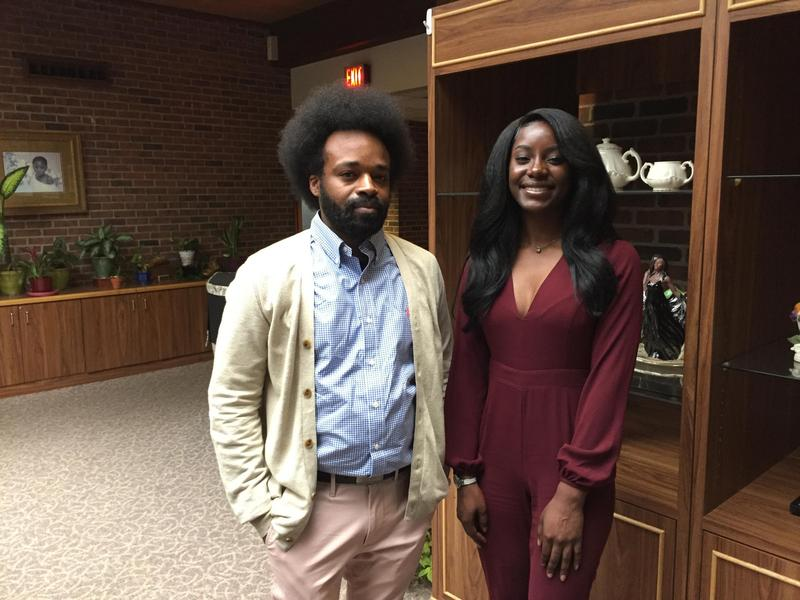 Bishop Chui (left) and Zakiyyah Malik are both members of Ohio Young Black Democrats, and both expressed concern about getting people to the polls this November.