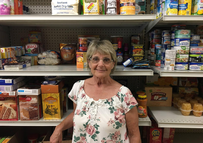 Keitha Simpson at the Marysville Food Pantry.
