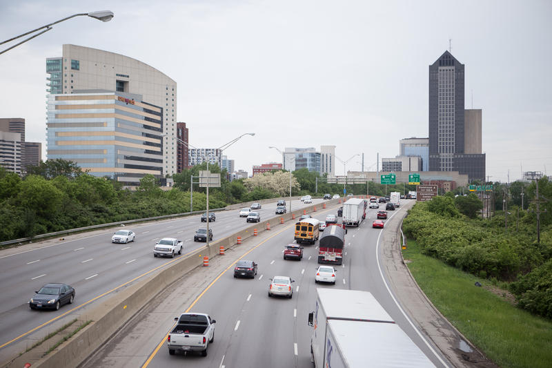 I-71 and I-70 in downtown Columbus.