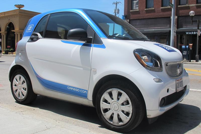A Car2Go parked in the Short North.