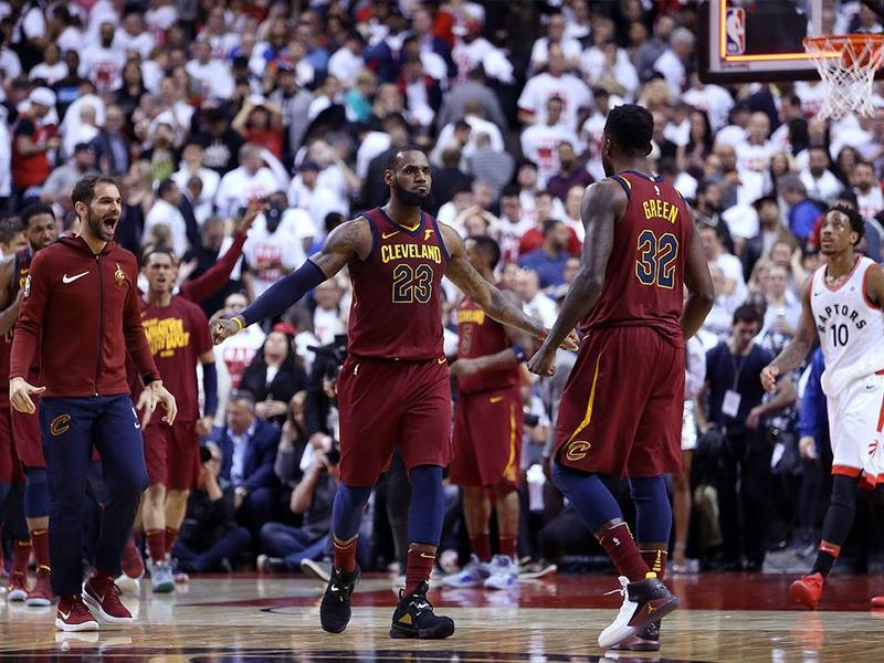 Cleveland Cavaliers won in overtime against the Toronto Raptors.