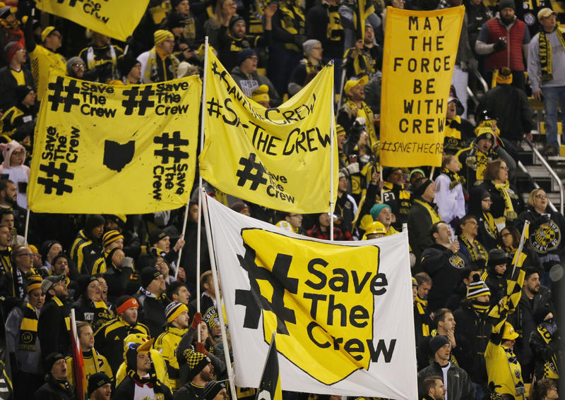 #SaveTheCrew supporters at an October 2017 match at MAPFRE Stadium in Columbus.