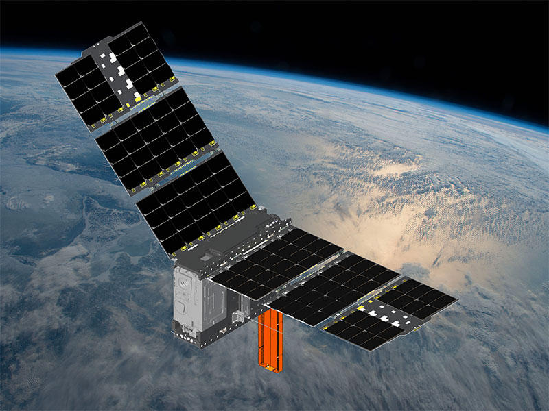 A NASA rendering of how CubeRRT satellite will look in space.