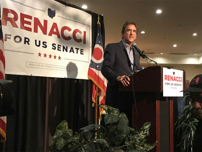 Jim Renacci speaks after his Ohio Primary win in the Republican U.S. Senate race