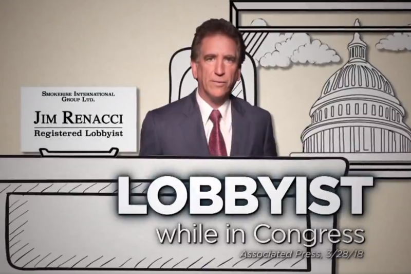 A negative ad against Jim Renacci by Sen. Sherrod Brown.