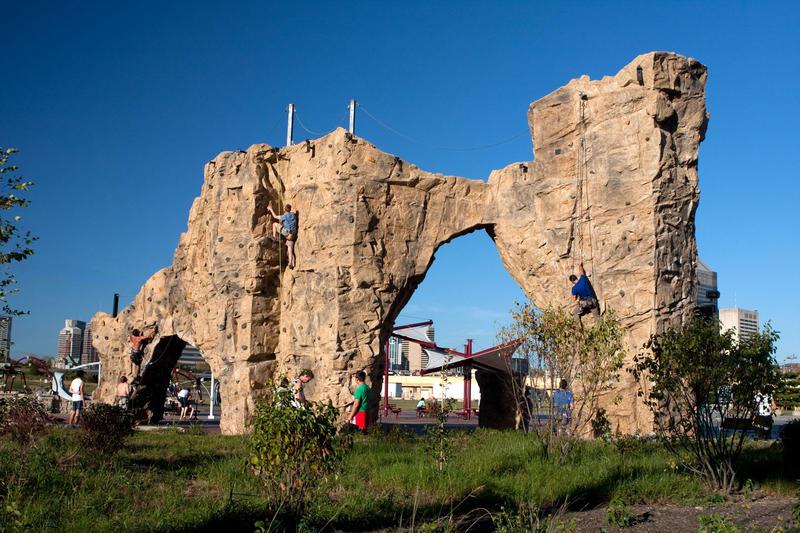 Climbing wall at Scioto-Audobon Metro Park