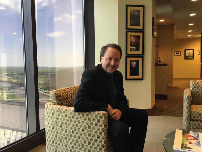Former Congressman Pat Tiberi at his Ohio Business Roundtable office.